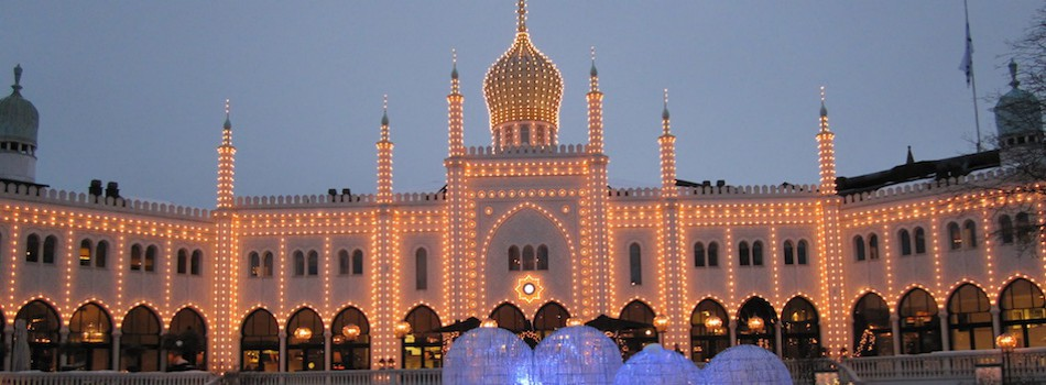 Winter evening at Tivoli Gardens